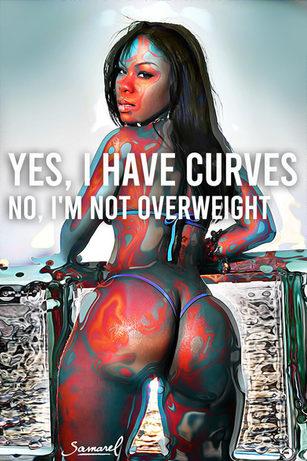 Black curvy girl got curves