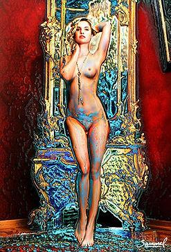 Nicoletta - glamour naked woman fine art nuse canvas print for your living room
