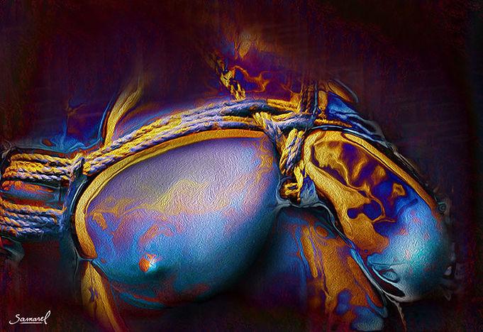 Shibari naked erotic
