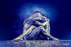 Lesbian couple blue hug black friday deal price on canvas prints