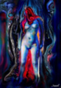 Naked woman erotic digital painting