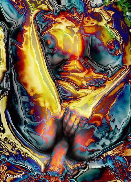 Fucking-Metal-Cock, erotic art print explicit fucking scene