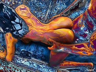MetaFuck COUPLE IN DOGGIESTYLE SEX ART PIC