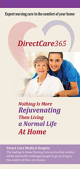Brochure design for Direct Care -front size