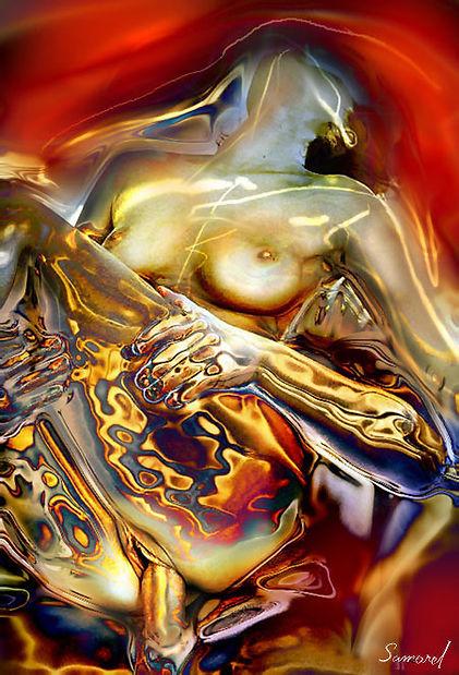 Deep penetration erotic art by Samarel
