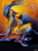 Ride-Octopus - sensual erotic art couple making love