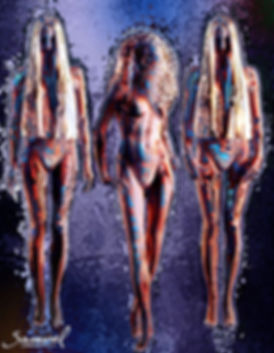 Fetish erotica by Samarel - 3 naked dolls