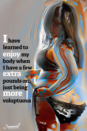 Extra Pounds and More Voluptuous