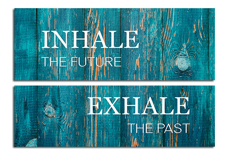 inhale exhale - art on canvas for your office.