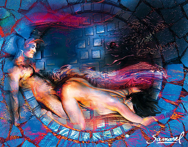 Deep penetration in this dogie style sex position art - by Samarel
