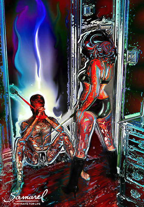 Dominatrix woman and her slave - erotica by Samarel