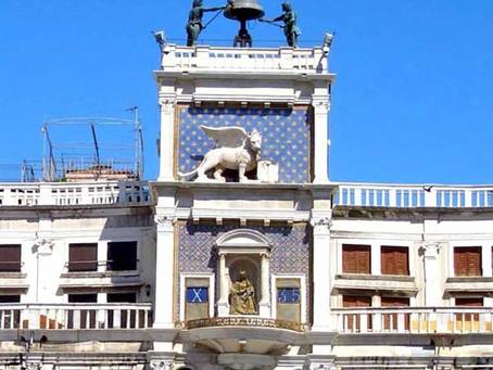 Visite de Venise: La tour de l'horloge de la «piazza San Marco»