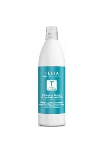 Шампунь для поврежденных волос с маслом арганы, 1000 мл (Tefia, Италия)