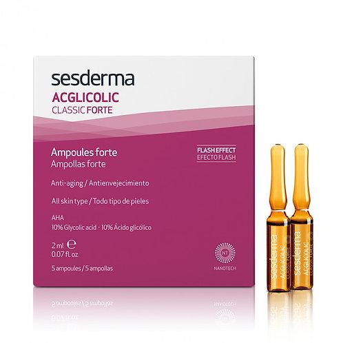 Средство в ампулах ACGLICOLIC Classic Forte, 5 шт по 2 мл (Sesderma, Испания)