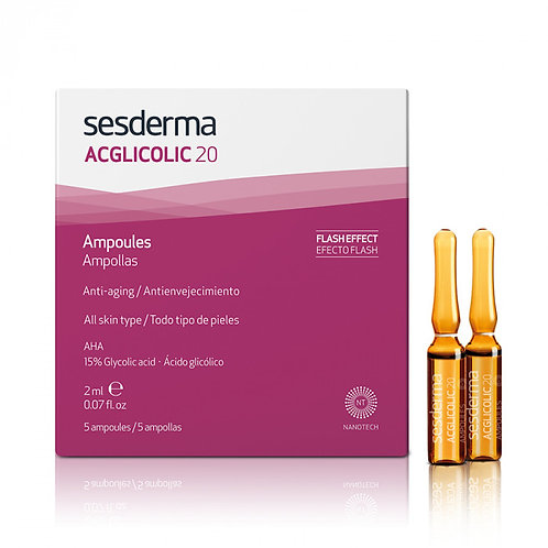 Средство в ампулах ACGLICOLIC 20, 5 шт по 2 мл (Sederma, Испания)
