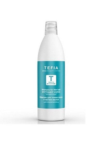 Шампунь для тонких волос и частого мытья, 1000 мл (Tefia, Италия)