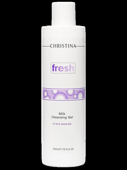 Молочный очищающий гель для сухой и нормальной кожи,300 мл (Christina,Израиль)