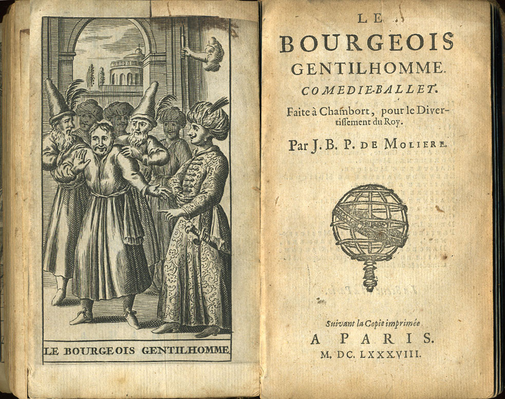 cover of moliere's le bourgeois gentilhomme, the bourgeois gentleman