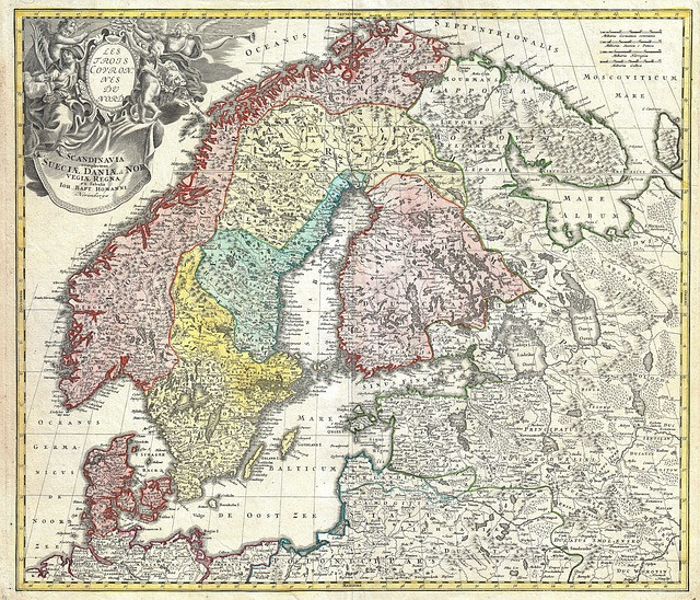 ancient map of northern europe and scandinavia