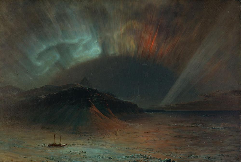 painting of the aurora borealis