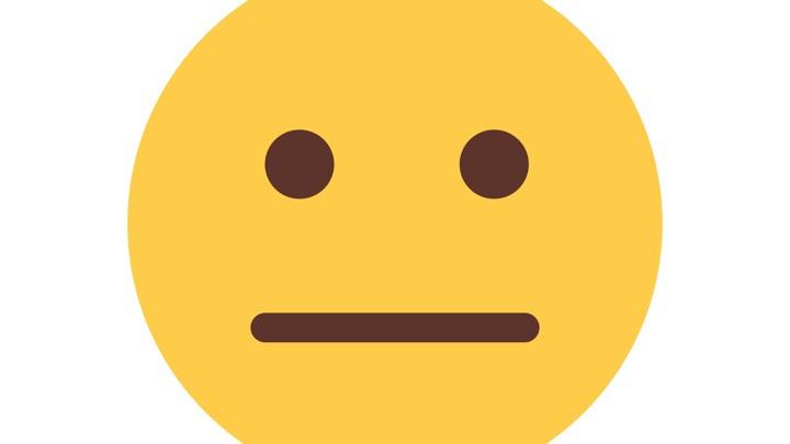 A glum emoji face, origin of frobly-mobly