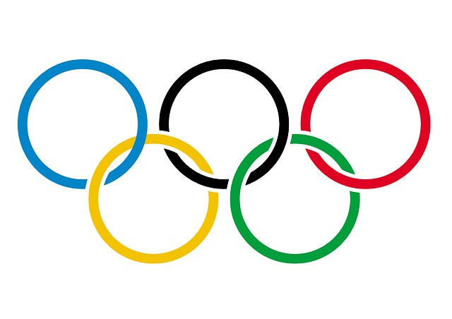 olympic flag and rings