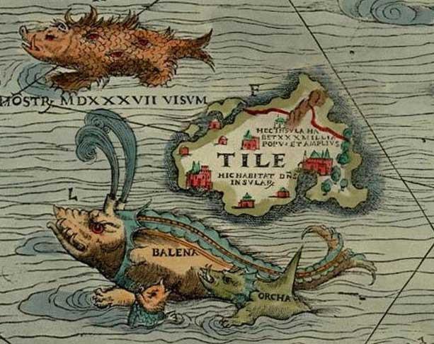 ancient explorers map showing ultima thule
