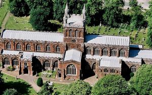 parish church of crediton in devon england exeter