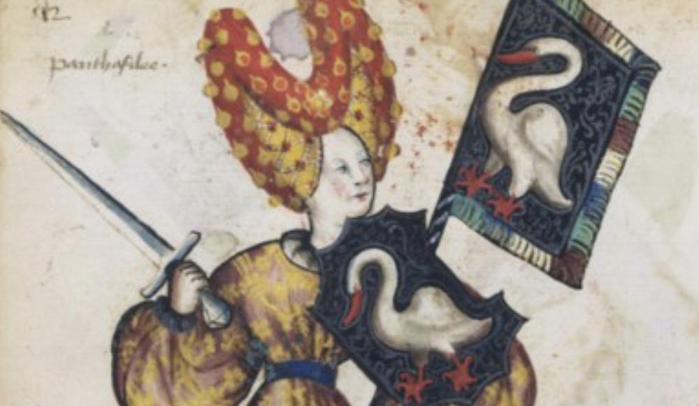 ancient portrait of penthesilea
