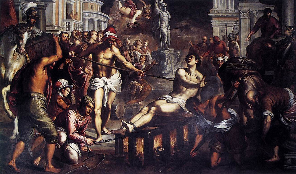 painting of the martyrdom of st lawrence