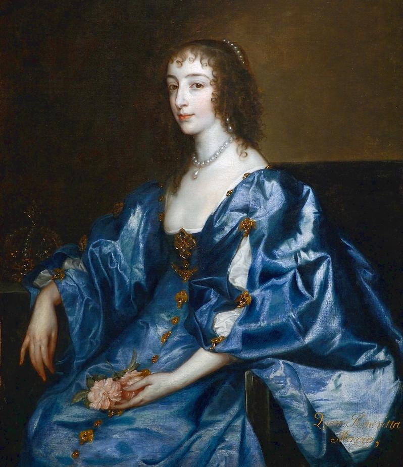portrait of King Charles I's wife Henrietta Maria