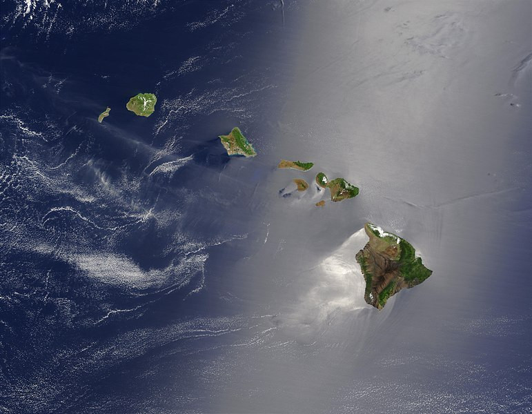 NASA Satellite image of Hawaii, home of the ieie plant