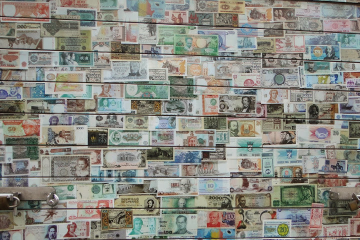 collection of banknotes from around the world