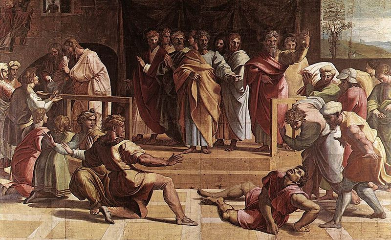 Raphael's The Death of Ananias (1515)