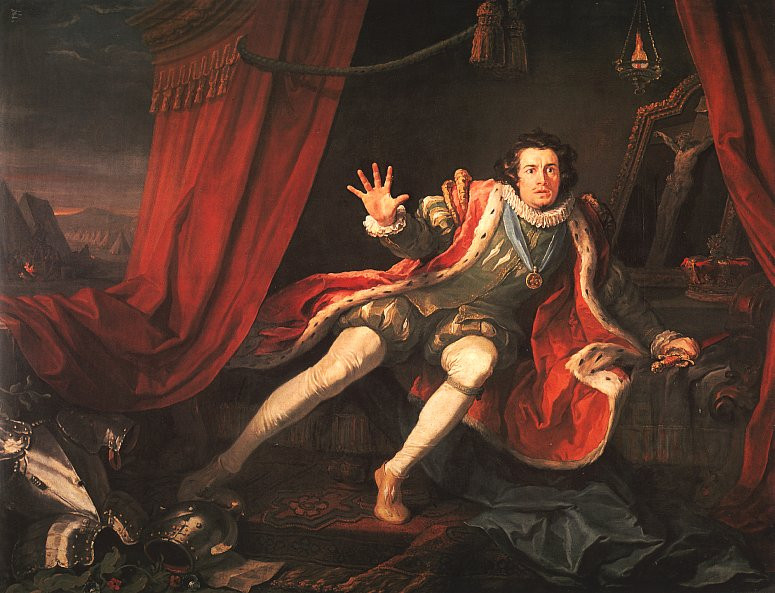 Painting of Shakespeare's Richard III haunted by nightmares