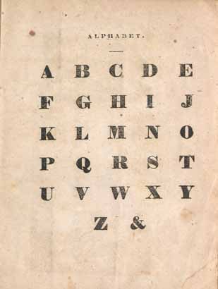 1920s alphabet poster showing the ampersand as a letter of the alphabet