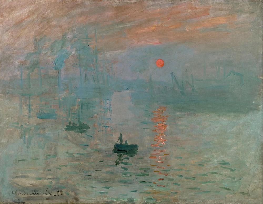 Monet Impression, Sunrise (Impression, soleil levant), 1872