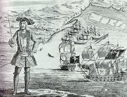 engraving of Bartholomew Roberts, pirate