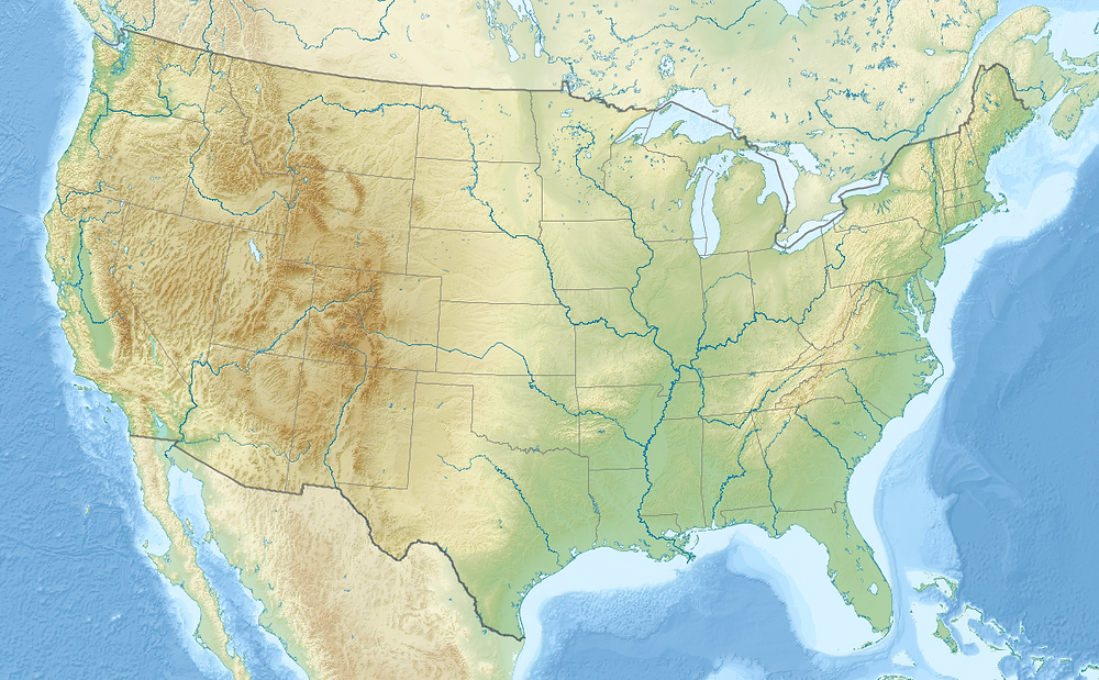 map of the contiguous united states