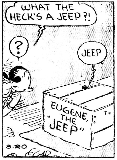 (Image credit: Mental Floss) eugene the jeep makes his appearance in popeye
