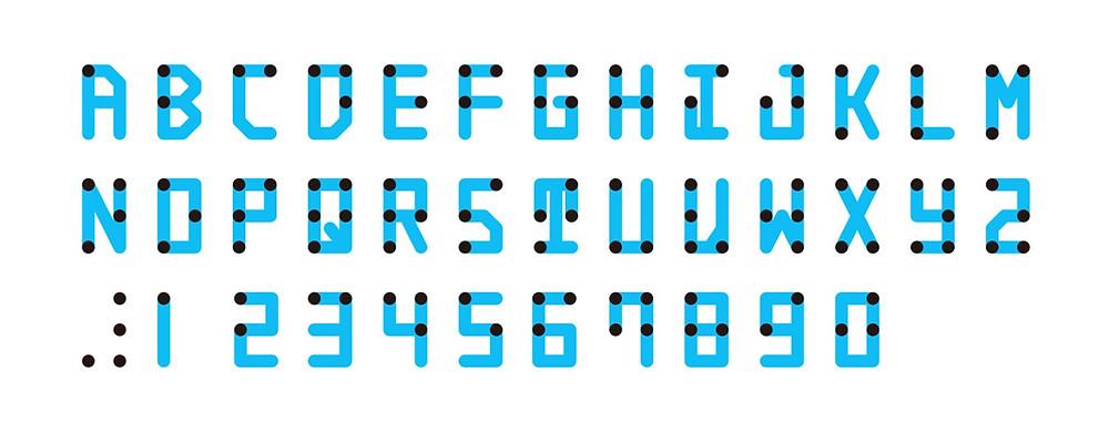 the braille neue typeface