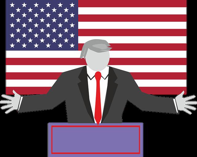 caricature of president Donald trump