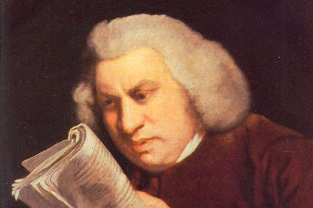 portrait of samuel johnson reading