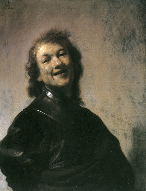 Rembrandt as Democritus (1628) abderian laughter