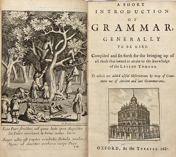William Lily's short introduction of grammar Latin