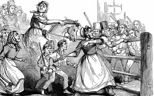 illustration of the rebecca riots