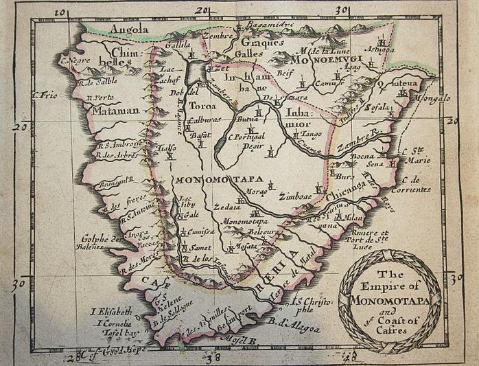map of ancient monomotapa Angolan African