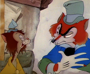 fox and cat double act from pinocchio