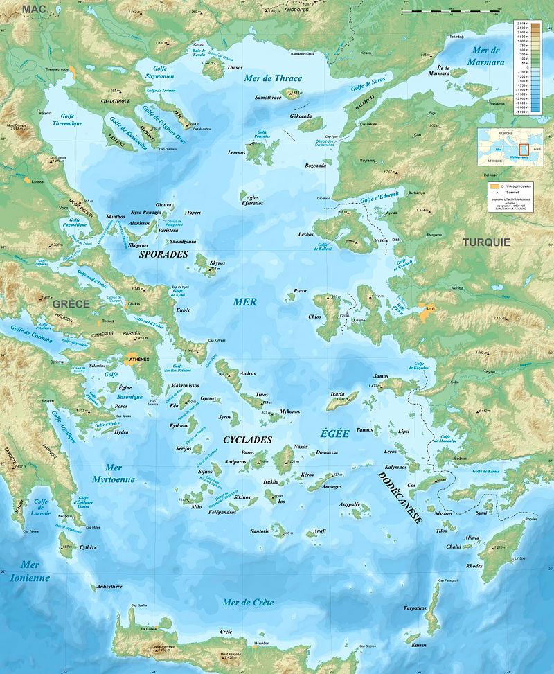 map of the aegean sea