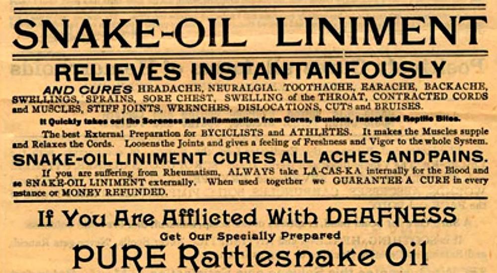 19th century snake-oil advertisement